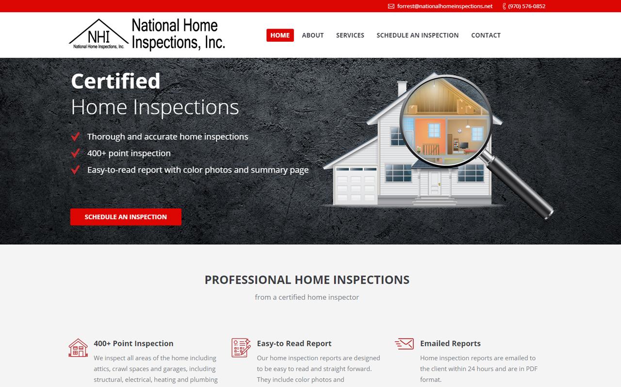 National Home Inspections Website Bulldog Graphics Llc
